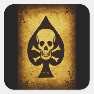 917 SKULL DEATH CARD POKER PLAYER GANGS GANGSTER D SQUARE STICKER
