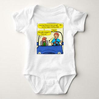 917 Teacher calls homework takeout cartoon Baby Bodysuit