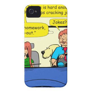917 Teacher calls homework takeout cartoon iPhone 4 Cover
