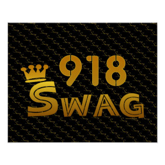 918 Area Code Swag Posters