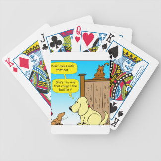 918 The cat that caught the red dot cartoon Bicycle Playing Cards