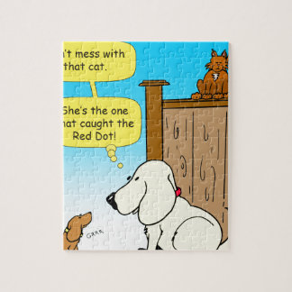 918 The cat that caught the red dot cartoon Jigsaw Puzzle
