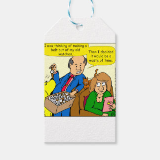 919 belt watch a dad joke cartoon gift tags
