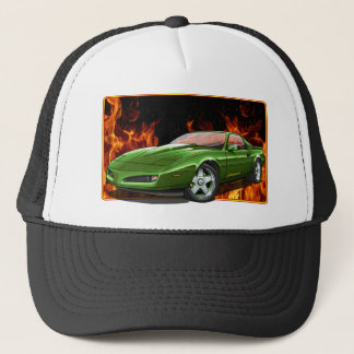 91_Green_Firehawk Trucker Hat