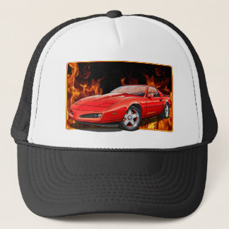 91_Red_Firehawk Trucker Hat