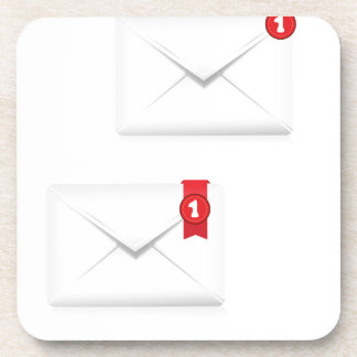 91Mailbox Alert Icon_rasterized Coaster
