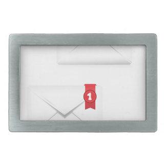 91Mailbox Alert Icon_rasterized Rectangular Belt Buckle
