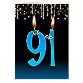 91st birthday with eyeball candles card