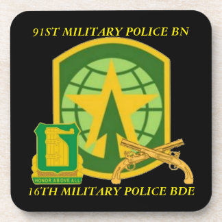 91ST MILITARY POLICE BATTALION COASTERS