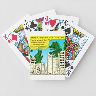 920 Monsters eat honor students for brain food Bicycle Playing Cards