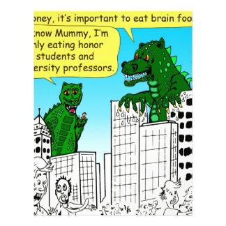 920 Monsters eat honor students for brain food Letterhead