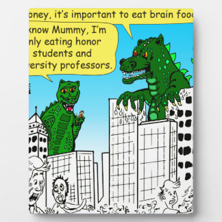 920 Monsters eat honor students for brain food Plaque
