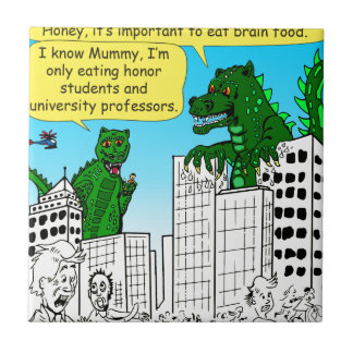 920 Monsters eat honor students for brain food Tile
