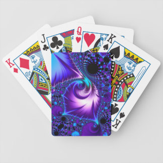 925 Blue/Purple Fractal Bicycle Playing Cards