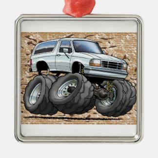 92-96 White Bronco Metal Ornament