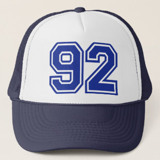 92 - number trucker hat