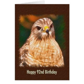 92nd Birthday, Red-shouldered Hawk Card