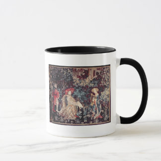 930 The Concert, Tapestry from Arras, 1420 Mug