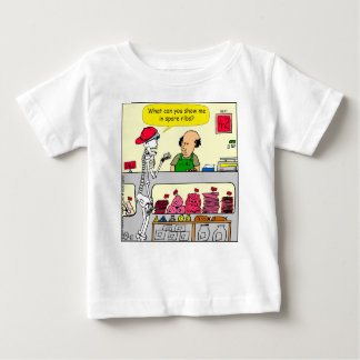932 Skeleton at butcher and spare ribs cartoon Baby T-Shirt