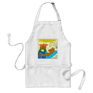 938 cat insurance 9 lives cartoon standard apron