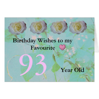 93rd Birthday Card