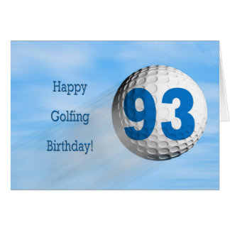 93rd birthday golfing card