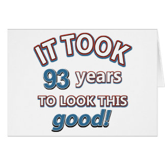 93rd year birthday party card