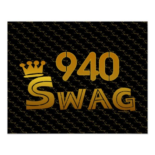 940 Area Code Swag Print