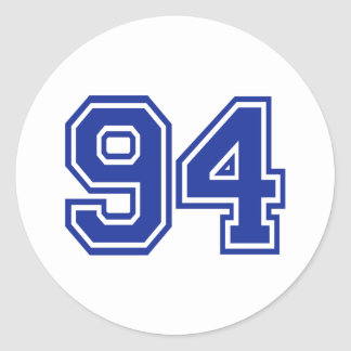 94 - number classic round sticker