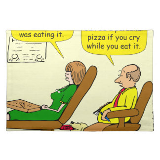 950 pizza: felt horrible the whole time cartoon placemat