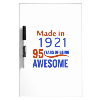 95 birthday design Dry-Erase whiteboard