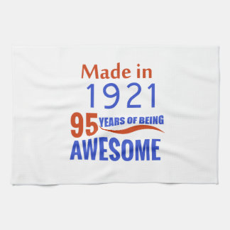 95 birthday design kitchen towels