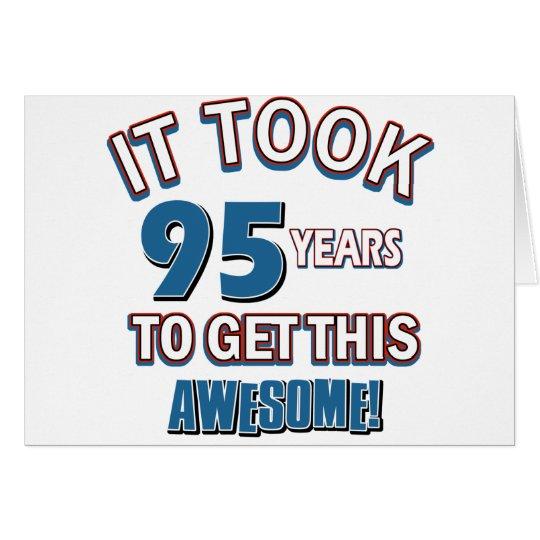 95 year old birthday designs card
