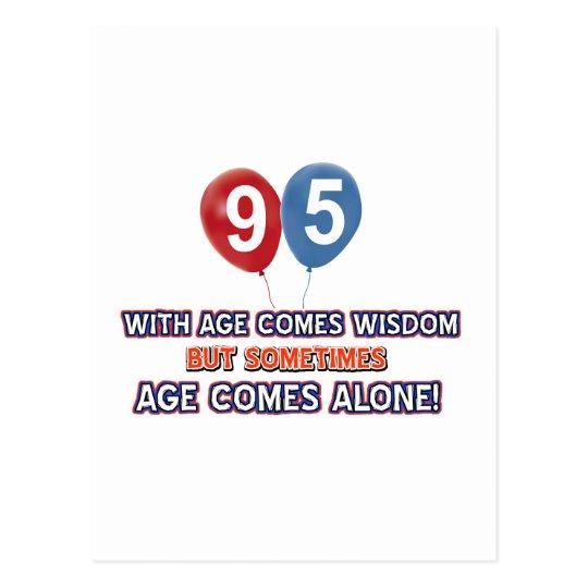 95 year old wisdom birthday designs postcard