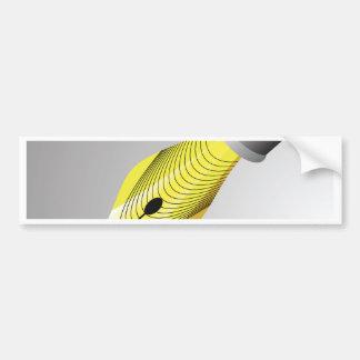 95Shiny Fountain Pen Nib_rasterized Bumper Sticker