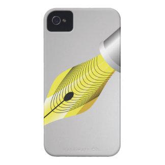 95Shiny Fountain Pen Nib_rasterized iPhone 4 Case