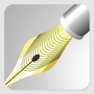 95Shiny Fountain Pen Nib_rasterized Square Sticker