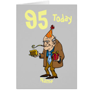 95th 95 today birthday cartoon personalized card