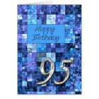 95th Birthday card with abstract squares.