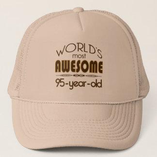 95th Birthday Celebration World's Best in Brown Trucker Hat