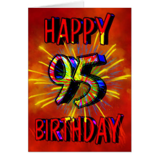 95th Birthday Fireworks Card