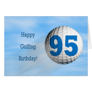 95th birthday golfing card