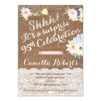 95th birthday invitations, surprise party invites