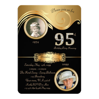 95th,Birthday Man 95th,elegant art deco,purple Card