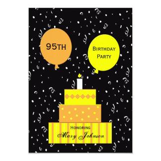 95th Birthday Party Invitation Fun 95th Cake