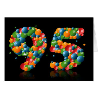 95th birthday with numbers formed from balls card