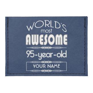 95th Birthday Worlds Best Fabulous Dark Blue Tyvek® Card Case Wallet