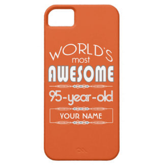 95th Birthday Worlds Best Fabulous Flame Orange iPhone 5/5S Cover