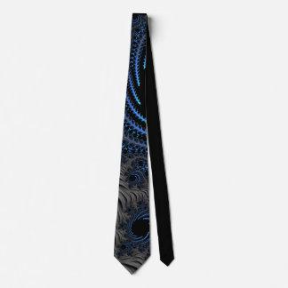 966 Blue/Black Fractal Tie
