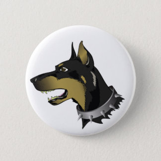96Angry Dog _rasterized 2 Inch Round Button